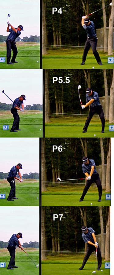Closed versus square clubface during a full golf swing