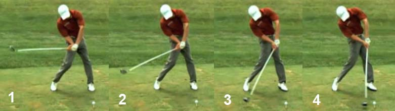 SadLateDownswing hand release actions through the impact zone