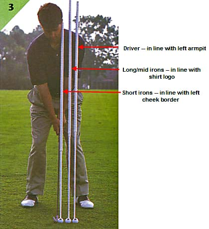 TotalGolf ballposition address setup